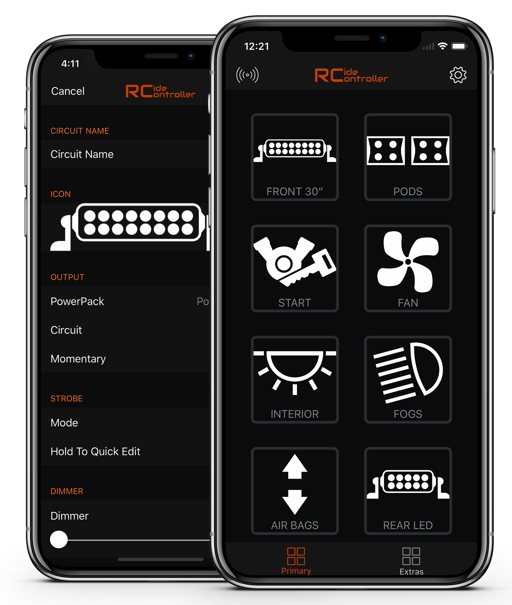RideController App Screenshot